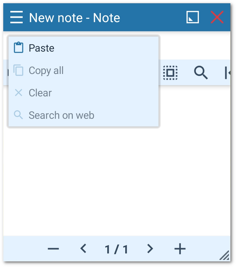 Copy/paste in Floating Apps