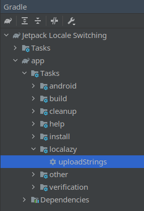 Gradle View in Android Studio